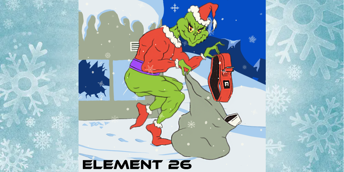 The Grinch Who Stole An Element 26 Weightlifting Belt