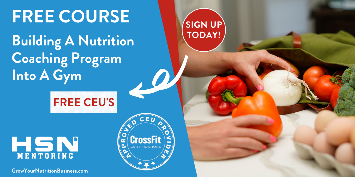 Free Course: Build a Nutrition Program Within a Gym 🥦+🏋🏼♀️=🚀