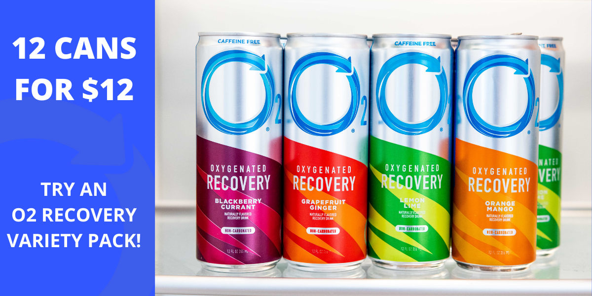 Try All Four O2 Recovery Flavors For $12!