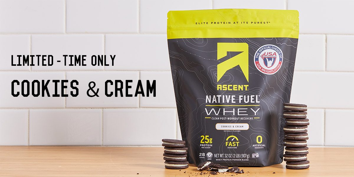 Just in - Ascent Cookies and Cream Whey Protein, Available For A Limited Time